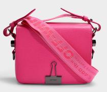 Handtasche Flap aus fuchsiafarbenem Kalbsleder