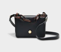 Spring Small Bag aus schwarzem Kuhleder