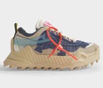 Sneakers ODSY-1000 in blauem und nude Kalbsleder