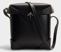 Mini Handtasche Pristine aus pflanzlichem Kalbsleder in Schwarz