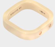 Ivory Keramik und Gold TV Ring