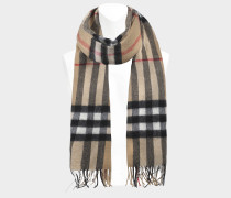 Giant Icon Scarf in Camel Check Cashmere