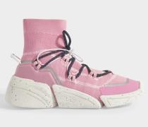 K-Sock Slip On Turnschuhe aus pink Polyester