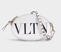 Camera Bag VLTN aus schwarzem und weißem Kalbsleder