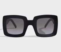Show Square Sonnenbrille aus schwarzem Acetat und Metall