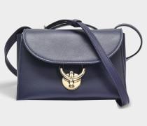 Stella Crossbody Tasche aus blauem Dolce T Leder