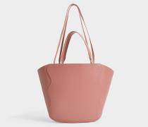 Shopper Ocean aus rosa Kalbsleder