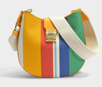 Patricia Rainbow Medium Hobo Tasche aus Rainbow gelbem Canvas