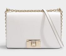Tasche Crossbody  Mimi' S aus weißem Kalbsleder