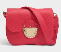 Ducale small Crossbody Tasche aus rubyrotem Kalbsleder