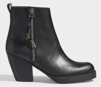 Pistol boots aus schwarzem, glattem Kalbsleder