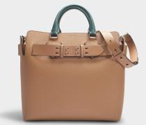 The Medium Belt Bag in Light Camel and Chalk White Calfskin