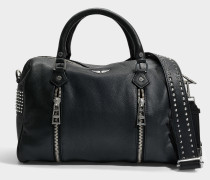 Sunny Spike Medium Tasche aus schwarzem Kuhleder