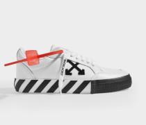 niedrige Sneakers Arrow Vulcanized aus weißem Canvas