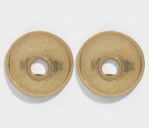 Ohrringe Métal Round aus goldenem Metall