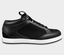 Miami Choo Me Sneaker aus schwarzem Canvas und Leder