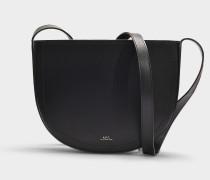 Handtasche Juliette aus schwarzem Kalbsleder