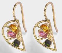 MEDIA NARANJA 9-KARAT GOLD AND SEMI-PRECIOUS STONES EARRINGS