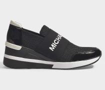 Sneaker Félix aus schwarzem Neopren