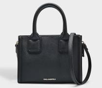K/Klassik Mini Tote Bag aus schwarzem Saffiano