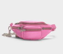 Mini Gürteltasche Attica aus rosa Baumwolle