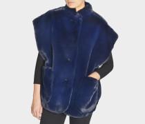 Parkmill Kappe aus marineblauem Fake Fur