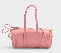 Handtasche Mini Gym aus rosa Kalbsleder