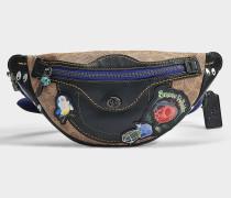 Tasche mit Schulterriemen Signature Multi Patches Campus Pack aus bedrucktem Stoff