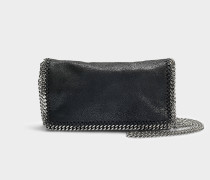 Clutch Falabella Shaggy Deer aus schwarzem Synthetikmaterial