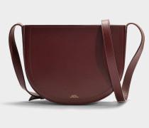 Handtasche Juliette aus Bordeauxrotem Kalbsleder
