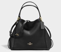 Handtasche Edie 28 aus schwarzem Kalbsleder