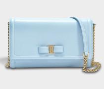Giny Mini Tasche aus hellblauem Ritzleder