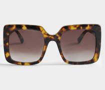Sonnenbrille aus Havana Bio-Acetat und Metall