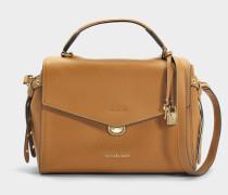 Bristol Medium Top Handle Satchel Tasche aus Acorn Leder 18K