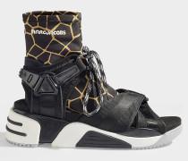 Sandalen Sport Somewhere mit Socken aus schwarzem Polyester