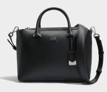 Nolita Medium Satchel Tasche aus schwarzem Leder