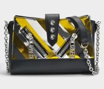 Kalifornia Mini Shoulder Bag aus schwarzem Kalbsleder