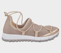 Andrea Netzstoff Sneaker aus Tea rosanem Netzstoff