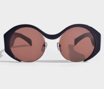 Show Round Sonnenbrille aus blauem Acetat und Metall