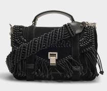 Handtasche PS1 Medium aus schwarzem Kalbsleder