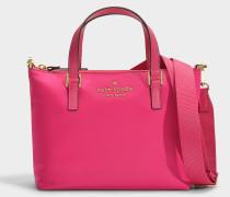 Handtasche mit Schulterriemen Lucie Cameron Street aus Rosa Nylon