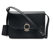 DV One Shoulder Bag aus schwarzem Kalbsleder