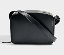 Vanity Kamera Tasche aus schwarzem Kalbsleder