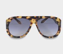 Power Frame Aviator Sonnenbrille aus Light Havana Acetat