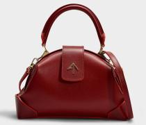 Handtasche Demi aus pflanzlichem Kalbsleder in Rot