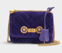 Schultertasche Velluto aus lila Baumwolle