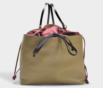 Backpack aus Ruby Sesame und schwarzem Nylon und Nappaleder