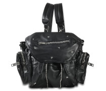 Mini Marti Backpack aus schwarzem Lammleder