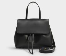 Handtasche Mini Lady aus schwarzem Kalbsleder