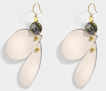 Petal Ohrringe aus weißem Harz
